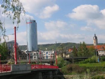 Stadtzentrum mit Saale